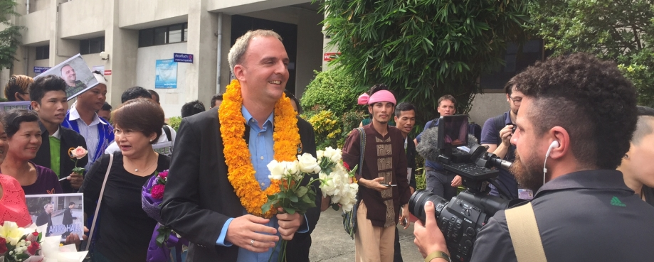 Labour rights campaigner Andy Hall pictured in Thailand