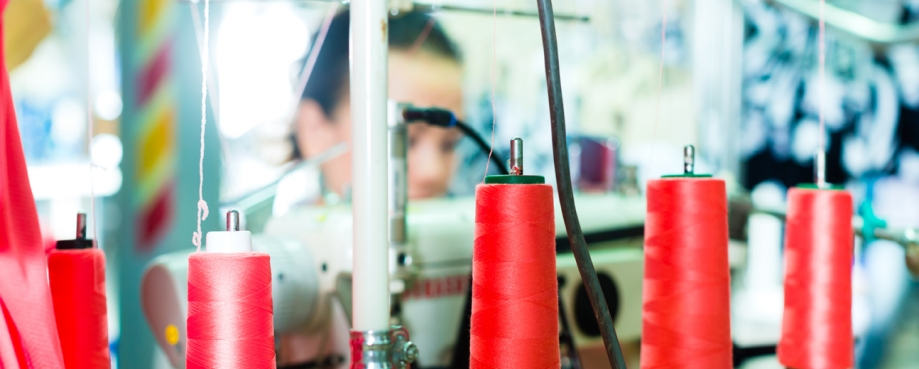 Garment manufacturing in China, courtesy of Shutterstock