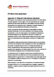 ETI Base Code Appendices: international standards and definitions