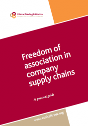 Freedom of Association in company supply chains
