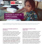 Modern Slavery in Supply Chains