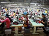 Workers in Cambodian Garment factory